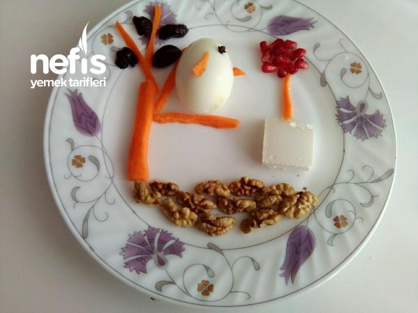 Çocuklara Kahvaltı Tabağı
