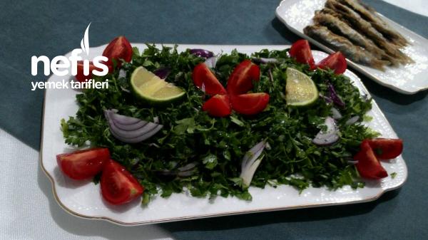 Maydanoz Salatası ( Balığın Yanına Süper Bir Tarif )