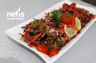 Kış Salatası (Nar Ekşili, Vitamin Deposu) Tarifi