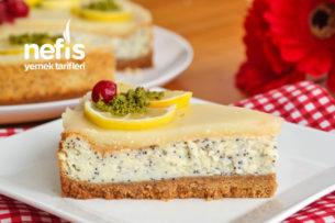 Haşhaşlı Limonlu Değişik Cheesecake Tarifi (videolu)