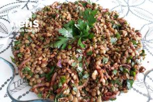 Kış Versiyonu Yeşil Mercimek Salatası Vazgeçilmez Lezzet Tarifi