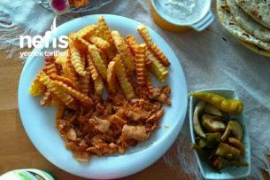 Evde Şahane Tavuk Döner Çıtır Patates Eşliğinde Tarifi