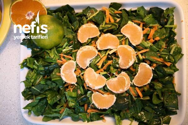 Ispanaklı-Rokalı Salata Tarifi