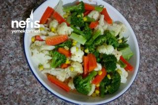 Sarımsaklı Ekşi Soslu Sebze Salatası (Vitamin Deposu) Tarifi
