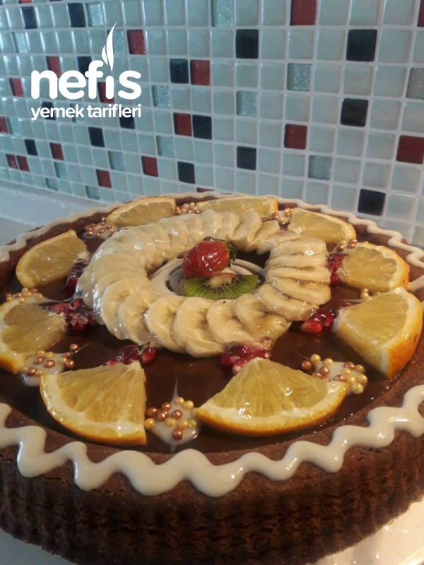 Karamelli Çikolatalı Tart Pasta(efsane)