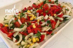Kırmızı Biber Salatası (Közlenmiş) Tarifi