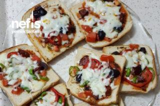 Tost Ekmeği İle Harika Pizza Tarifi