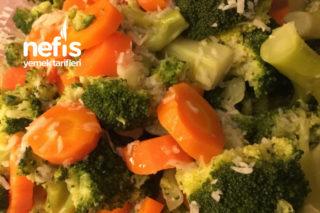 Zeytinyağlı Sarımsaklı Brokoli Havuç Tarifi
