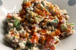 Yeşil Mercimekli Bulgurlu Salata Tarifi