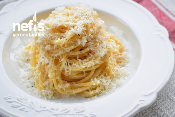 Cacio E Pepe Peynir Ve Karabiber Spagetti 3 Malzemeli Tarifi