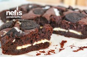 Beyaz Çikolatalı Oreolu Brownie Tarifi