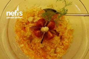 Havuçlu Çiğ Karnabahar Salatası Tarifi