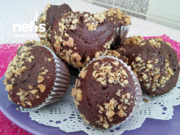Kakolu Cevizli Muffin Top Kek