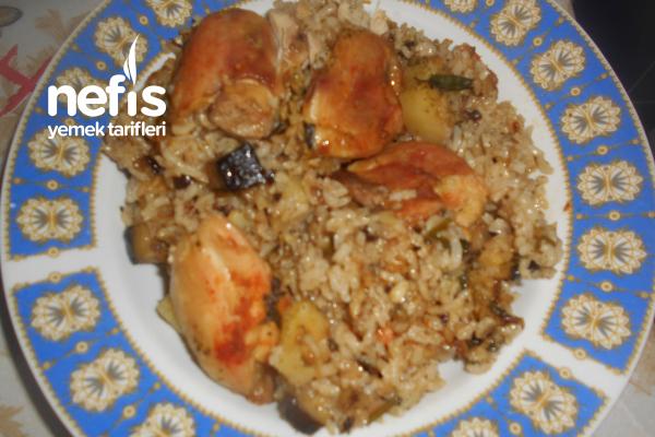 Patlıcanlı Patatesli Tavuk Kapama Tarifi