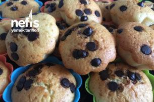Muffin Damla Çikolatalı Kek Tarifi