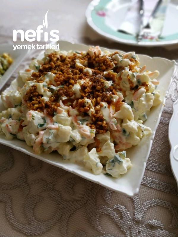 Yoğurtlu Karnabahar Salatası