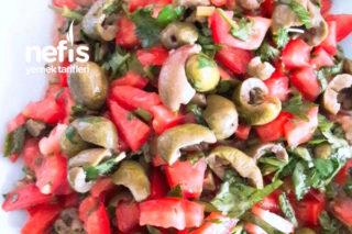 Kahvaltıya Lezzetli Zeytin Salatası Tarifi