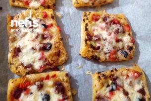 Milföyden Mini Pizzalar Tarifi