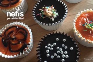 Çikolatalı Balkabaklı Minik Cheesecakeler (videolu) Tarifi