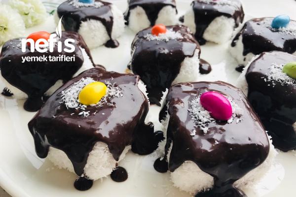 Çikolata Soslu Pratik Burçak Pasta Tarifi