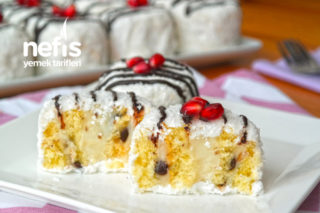 LOKUM GİBİ YUMUŞACIK Kartopu Pastası Tarifi (videolu)