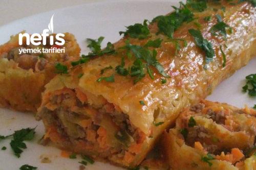 Patates Tabanlı Kıymalı Rulo Tarifi