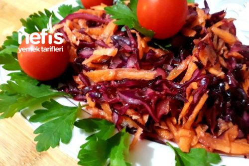 Havuçlu Mor Lahana Salatası Tarifi