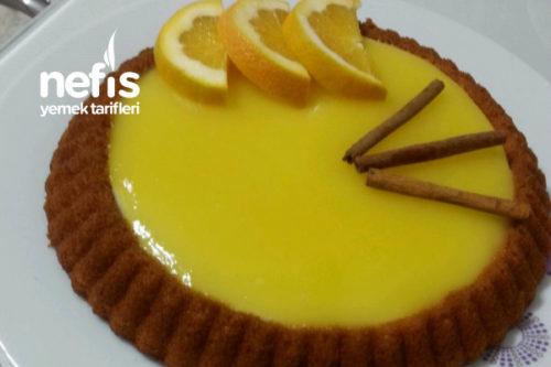 Tart Kalıbında Muhallebili Portakallı Kek Tarifi