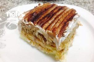 Teremyağlı Dört Katlı Elmalı Yaz Pastası Tarifi