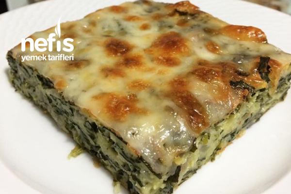 Fırında Teremyağlı Peynirli Ispanak Tarifi