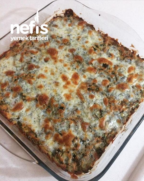 Fırında Teremyağlı Peynirli Ispanak