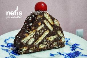 Teremyağlı Lokum Piramit Pasta Tarifi