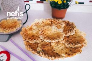 Waffle Makinasında Otlu Ve Peynirli Krep Tarifi