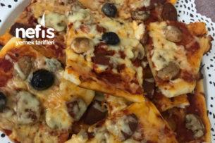 Mantarlı Sucuklu Pizza Tarifi