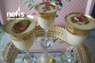 Teremyağlı Mısır Unlu Limon Kabuğu Rendeli Güllü Lokumlu Sütlaç Tarifi