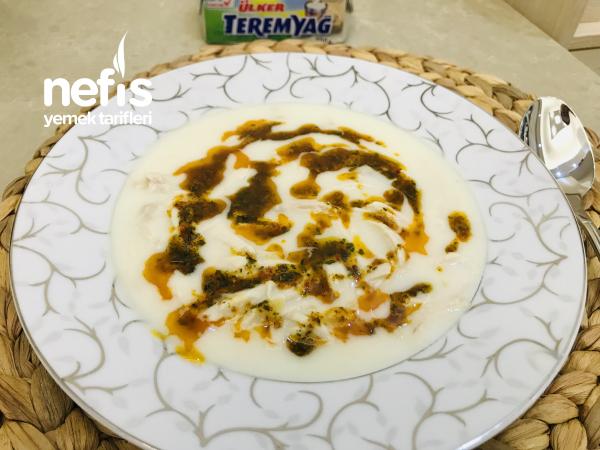 Teremyağlı Yoğurtlu Tavuk Çorbası