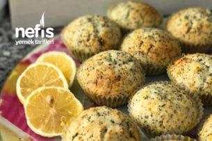 Teremyağlı Limonlu Haşhaşlı Mini Kekler Tarifi