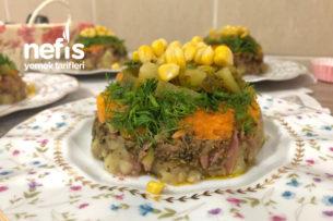 Patates Salatası (Brokoli,Havuç,Dere Otu Eşliğinde) Tarifi