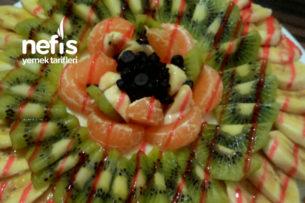 Teremyağlı Meyveli Tart Kek Pasta Tarifi