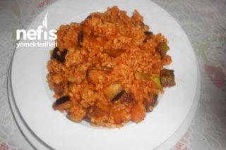 Teremyağlı Patlıcanlı Patetesli Kabaklı Bulgur Pilavı Tarifi