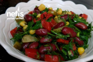 Enfes Meksika Fasülye Salatası Tarifi