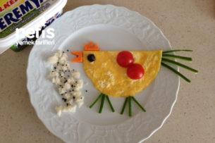 Teremyağlı Civciv Omlet (Yumurta Yemeyen Çocuklara) Tarifi