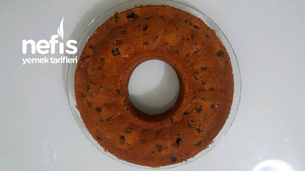 Portakal Sulu Kuru Meyveli Yumuşacık Kek