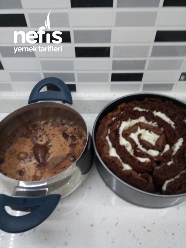 Teremyağlı Çikolatalı Sarmal Pasta
