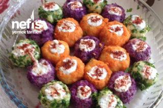 Teremyağlı Renkli Nefis Patates Topları Tarifi