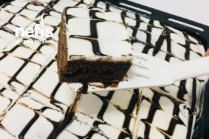 Teremyağlı Süslü Islak Kek (Sossuz) Tarifi