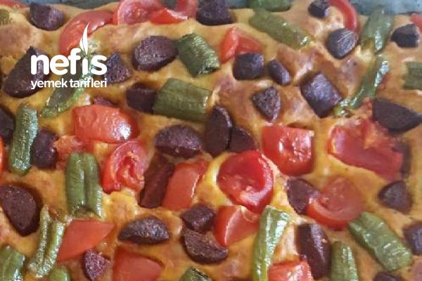 Teremyağlı Tepsi Pizzası Tarifi