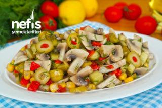 LEZZETİNE DOYAMAYACAĞINIZ Mantar Salatası Tarifi (videolu)