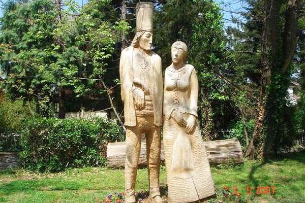polonezköy ağaç oyma heykel