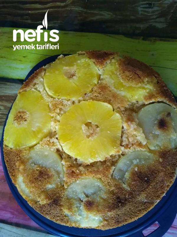 Ananasli Elmalı Kek